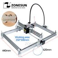 ZONESU5.5mw azul-violeta luz v-slot/t-slot aluminio DIY Kits completos Minitype máquina de grabado láser 35*50cm con láser y potencia