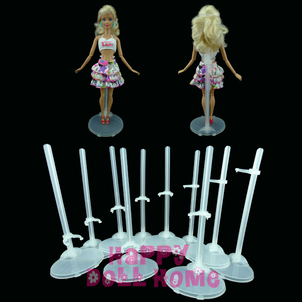 Free shipping Transparent Doll Stand Display Holder For Barbie Doll Furniture Prop Up Mannequin Model Figure Accessories Gift new 2pcs female right left vivid foot mannequin jewerly display model art sketch