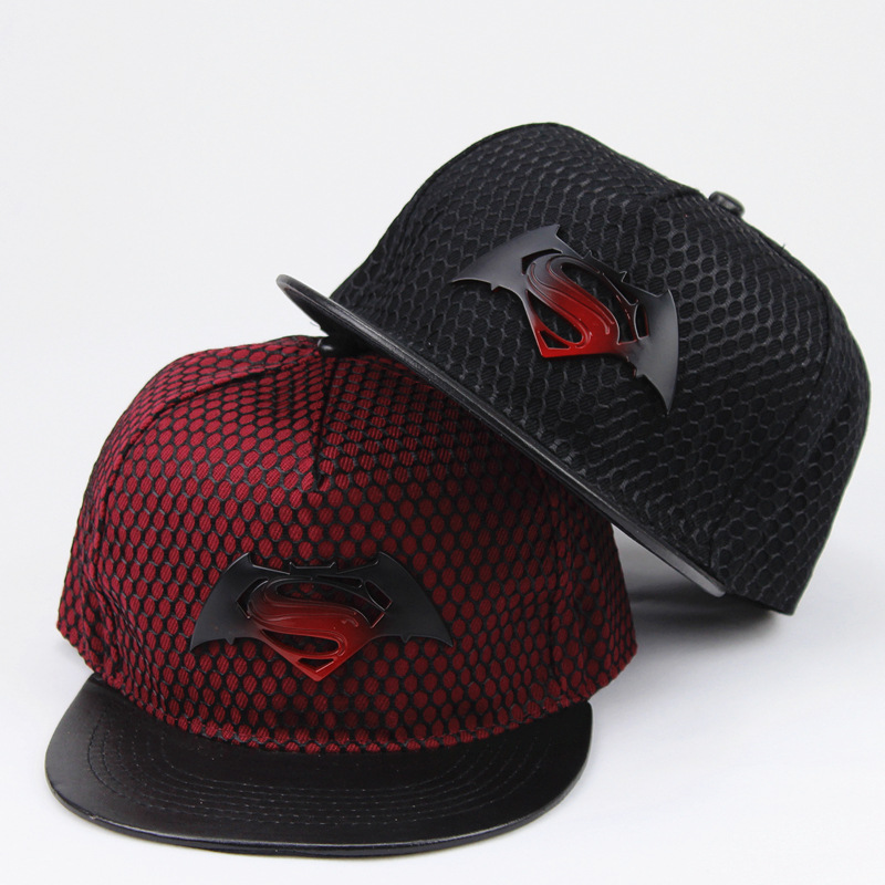 2018 Fashion Superman Batman Snapback Hats For Men Women Summer   Baseball     Cap   Casual Outdoor Sports Hip Hop Hat Mesh   Caps