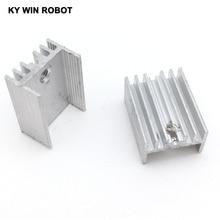 10 шт. Алюминий до-220 радиатор до 220 радиатор транзистора TO220 охладитель охлаждения 20*15*10 мм