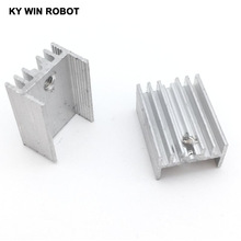 10pcs Free Shipping Aluminium TO-220 Heatsink TO 220 Heat Sink Transistor Radiator TO220 Cooler Cooling 7805 21*15*10MM