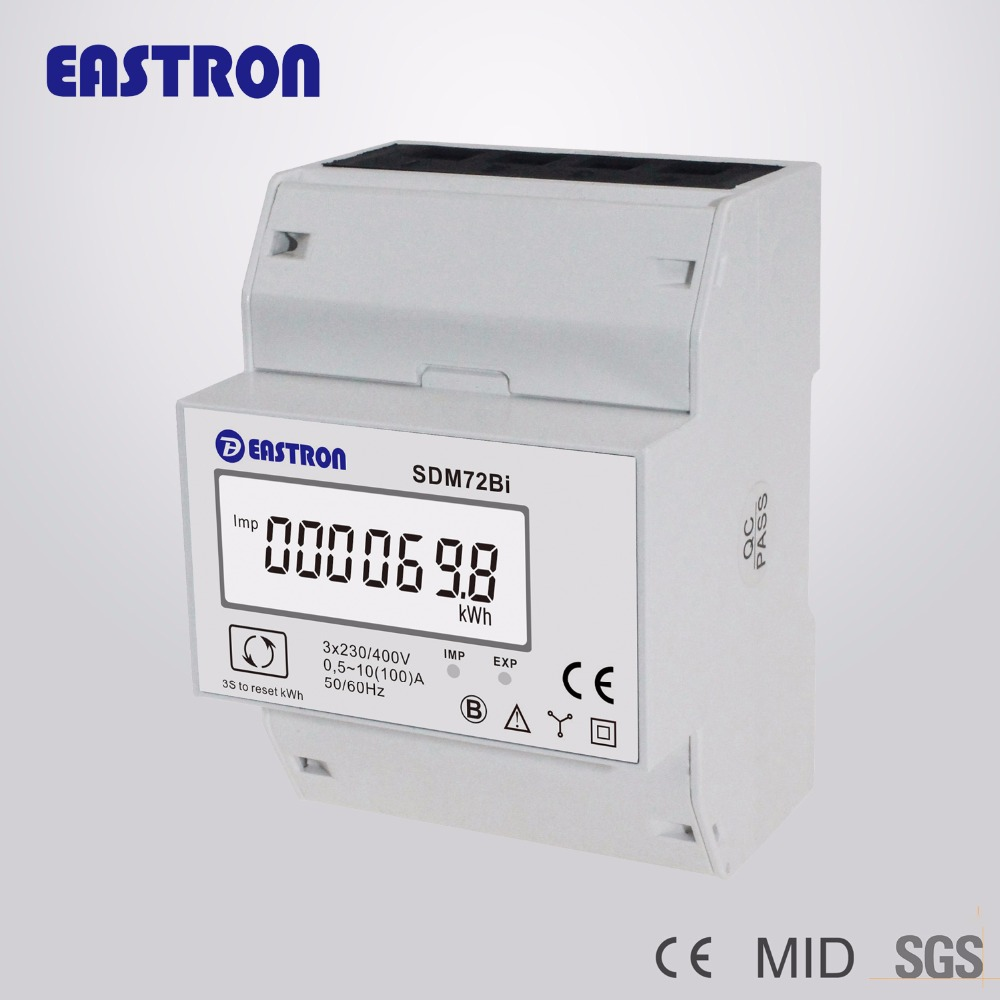 SDM630 Modbus Three Phase Four Wire Din Rail Energy Meter, RS485 ...