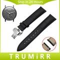 18mm Liberação Rápida Pulseira Pulseira De Couro Genuíno para Withings Activite/Aço/Pop Borboleta Faixa de Relógio de Fivela de Cinto pulseira
