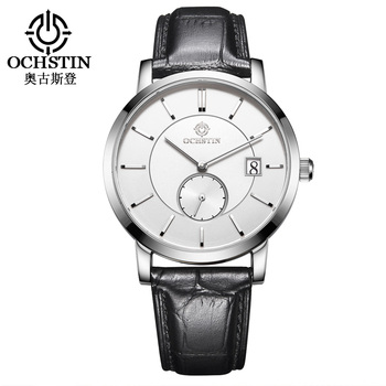 OCHSTIN Top Brand  Fashion Mens Watch Leather Band Date 5ATM Sport Watches Men Casual Roman Scale Business Quartz Wrist watches 1