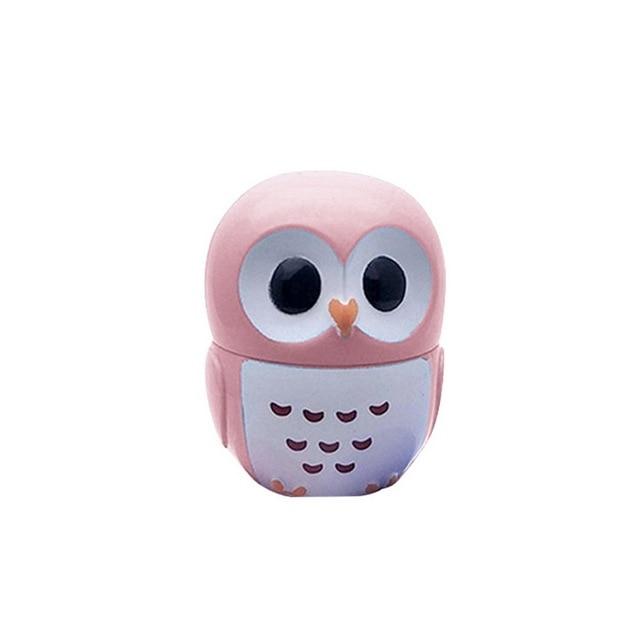 1 Pc Candy Color Owl Moisturizing Lip Balm Natural Plant Sphere Lip Gloss healthy Fruit Embellish Lipstick Makeup Tool 2