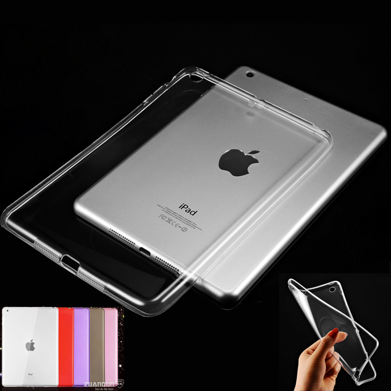 Scolour Hot Soft Gel TPU Skin Silicone Back Case Cover Silk Slim Clear Transparent Smart Back Cover for iPad mini 1 2 3 Retina surehin nice tpu silicone soft edge cover for apple ipad air 2 case leather sleeve transparent kids thin smart cover case skin