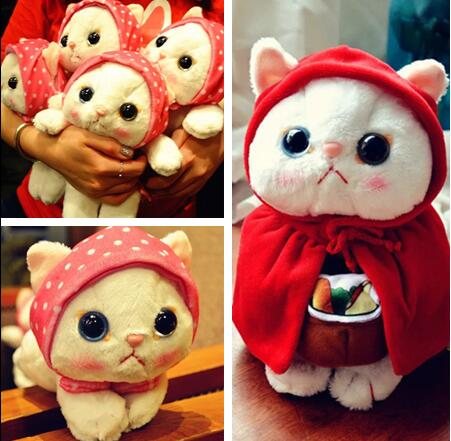 Candice guo! supet Q plush toy big eyes scarf cloak kitten choo choo cat stuffed doll children girls Christmas birthday gift 1pc candice guo plush toy stuffed doll funny the good dinosaur arlo in egg mini cute model children birthday gift christmas present