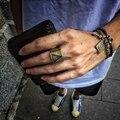 Виталий Дизайн Моды Треугольник Геометрические мужская Кольцо Женщина Кольца titanium сталь Готический кольцо личность Ретро Ювелирные Изделия