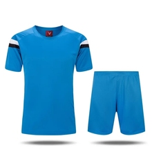 2016/17 Blue Men quick dry Training Sports T-shirts Adult football team kits soccer sets Breathable Jersey orange