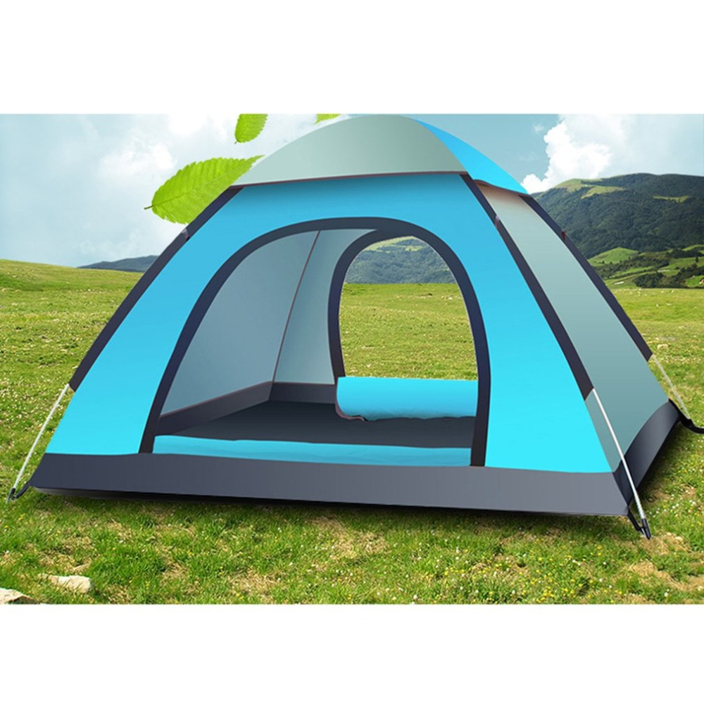 3 4 Person Family Camping Tent Portable Tent Waterproof ...
