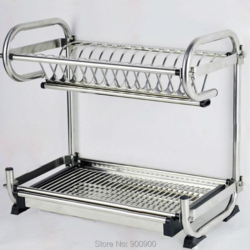 304 stainless steel dish rack kitchen rack kitchen shelf. Black Bedroom Furniture Sets. Home Design Ideas