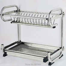 304 stainless steel Dish Rack, kitchen rack, kitchen shelf & Storage can hang wall or floor type