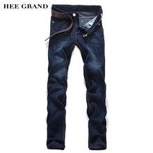 Hee grand herren jeans ohne gürtel 2017 heißer verkauf casual bleistift hosen mode schlanke mitte taille calca masculina blau farbe mkn411