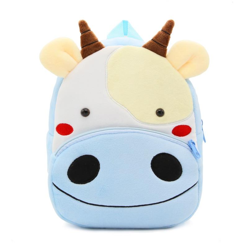 3D Cartoon for Girls Boys Kindergarten Schoolbag Lovely Cows Animal Kids Backpack Baby Calf School Bags Plush Children Backpacks