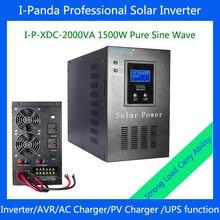 I-P-XDC-2000VA 1500w power inverter charger UPS 2000VA DC24V solar inverter for Solar /utility power complementary power system
