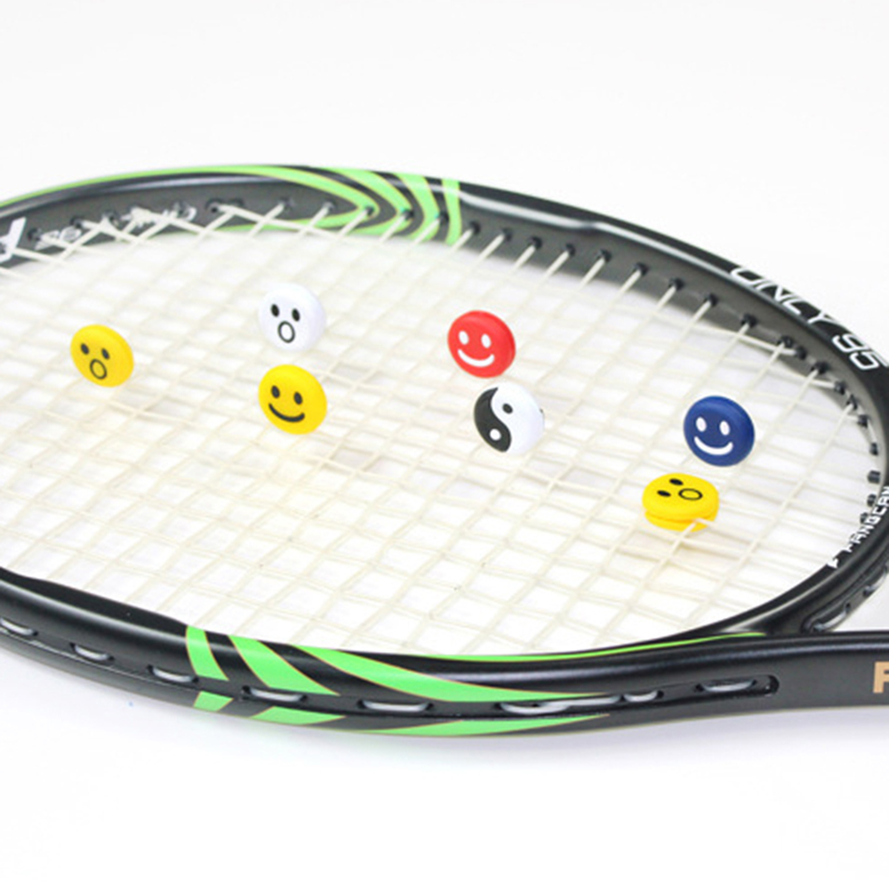 5Pcs Tennis Racket Damper Shock Absorber Silicone Rubber Taiji Pattern/Smile Face Shock Vibration  For Tennis Racket