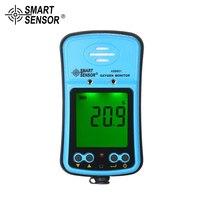 SMART SENSOR Профессиональный Промышленных автомобильных кислорода цифровой измеритель O2 газа Тестер монитор детектор звука легкая вибрация си
