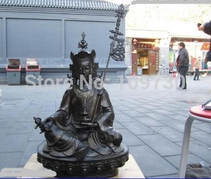 003021 18 Tibet Buddismo Rame bronzo padma PadmaSambhava grande maestro Statua di Buddha003021 18 Tibet Buddismo Rame bronzo padma PadmaSambhava grande maestro Statua di Buddha