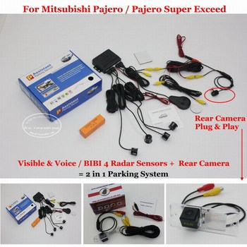 For Mitsubishi Pajero Super Exceed Car Parking Sensors Rearview Reverse Camera Sensor Auto Alarm System