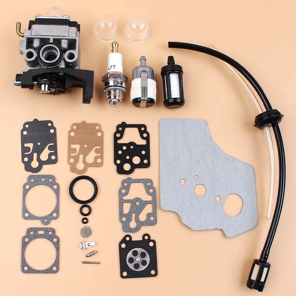Carburetor Carb Gasket Diaphargm Kit For HONDA GX35 HHT35 HHT35S Engine Motor Trimmers Brush Cutter Water Pump Generator 3set brush cutter carburetor gasket kit and primer bulb needle 40 5 44f 5 34f 36f 139f gx35 grass trimmer carburetor repair kit