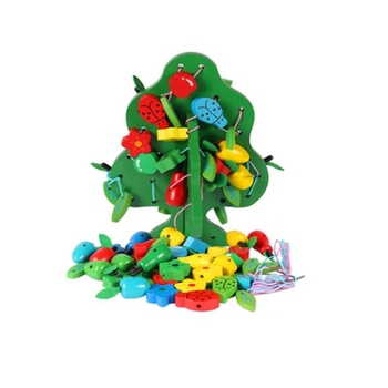 toys montessori beaded toys fruit trees wooden math toys for kids baby educational toys learning toys