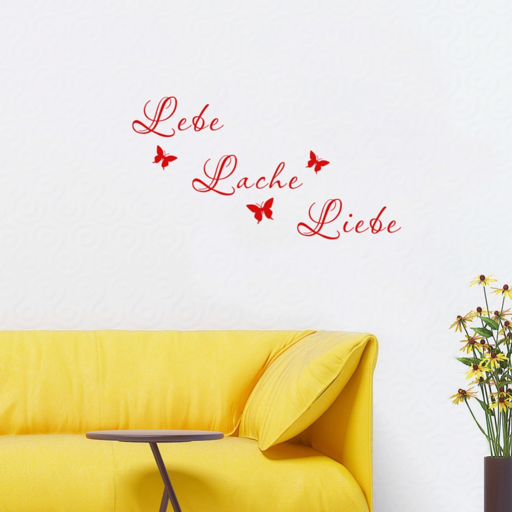 New design home decoration vinyl German words quote rules wall ...