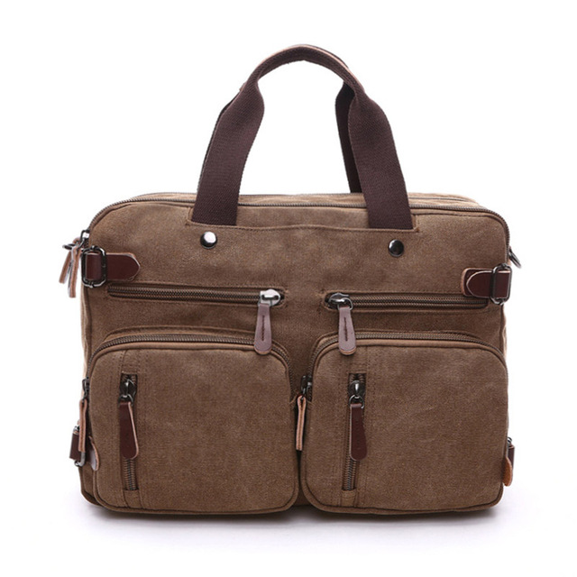 Men S Duffel Bags Travel Tote Male Multifunction Shoulder Strap Handbags School Canvas Leather