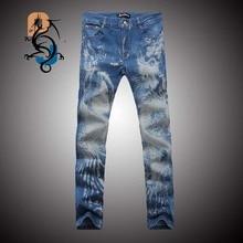 Черные узкие джинсы мужчины мода волк 3D печать зима теплая животных стрейч джинсы уменьшают подходящие джинсы брюки брюки джинсы мужские  (China (Mainland))
