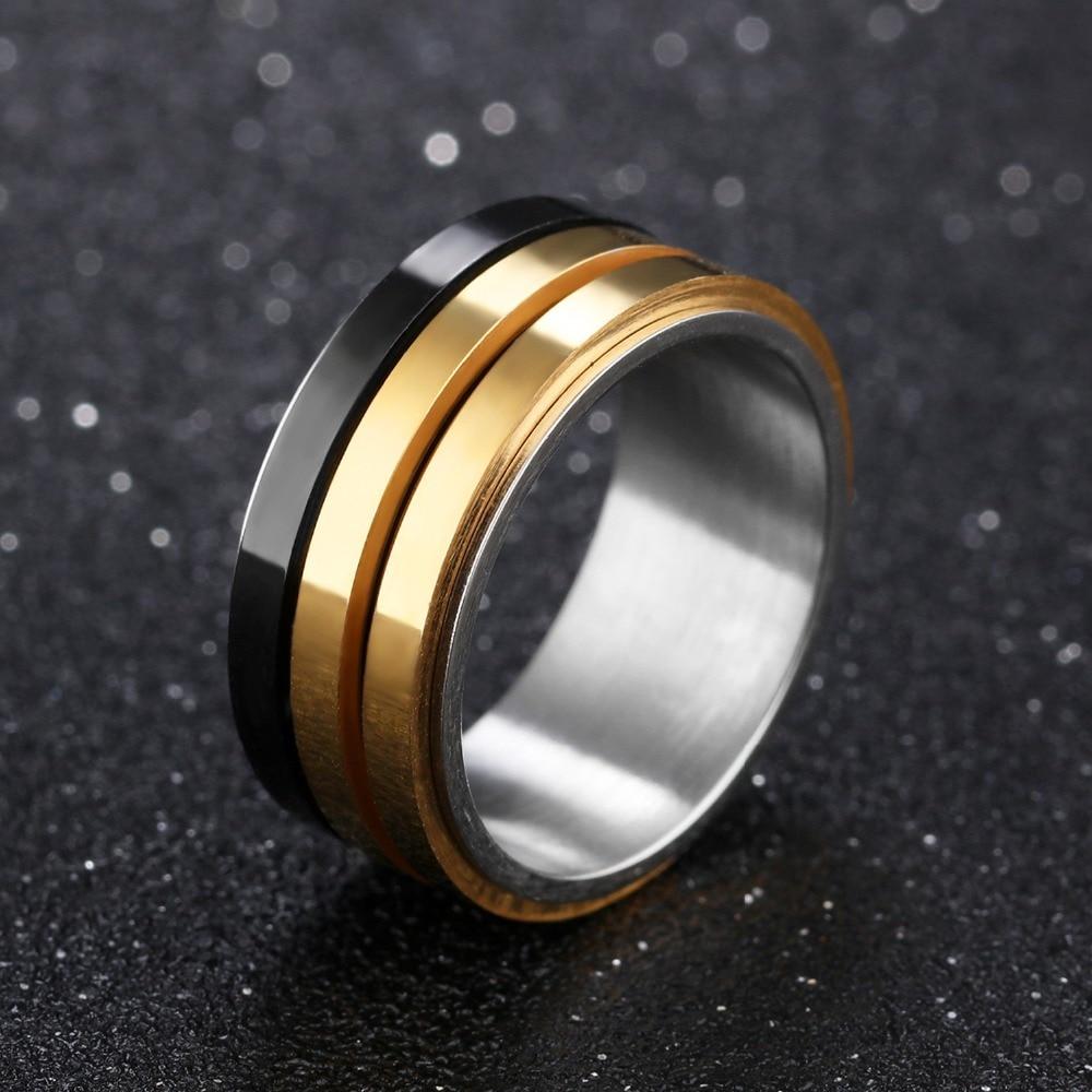 Купить кольцо мужское из титановой стали модное брендовое ювелирное