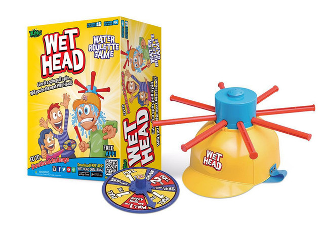Free shipping Wet Head Challenge Game Wet Hat Water Roulette Jokes&Funny Kids Toys For Children Family Games