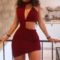 KANCOOLD Dress New High Quality Sexy Bandage Bodycon Sleeveless Dress Backless Evening Party Club Slim Dress