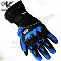 3 colors pro Motorcycle Gloves Racing Waterproof Windproof Winter Warm motocross riding Protective Gears Cycling Bicycle Cold