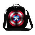 Cartoon Captain America Lunch Bags For Kids Personalized Lunch Box Children's Insulated Shoulder Food Bag Lancheira Bolsa