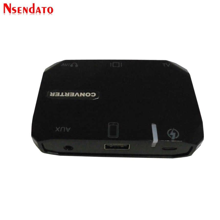 1080 p HDMI VGA AVI RCA AUX USB-A Naar AV TV Video Audio 3 in 1 HDTV Converter Adapter Doos voor Tablet Pad om HDTV Projector