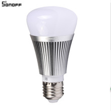 Sonoff B1 Smart Wifi Dimmable E27 LED Lamp RGB Color Light Timer Bulb Wifi Switch Home Automation Remote ON/OFF Works With Alexa