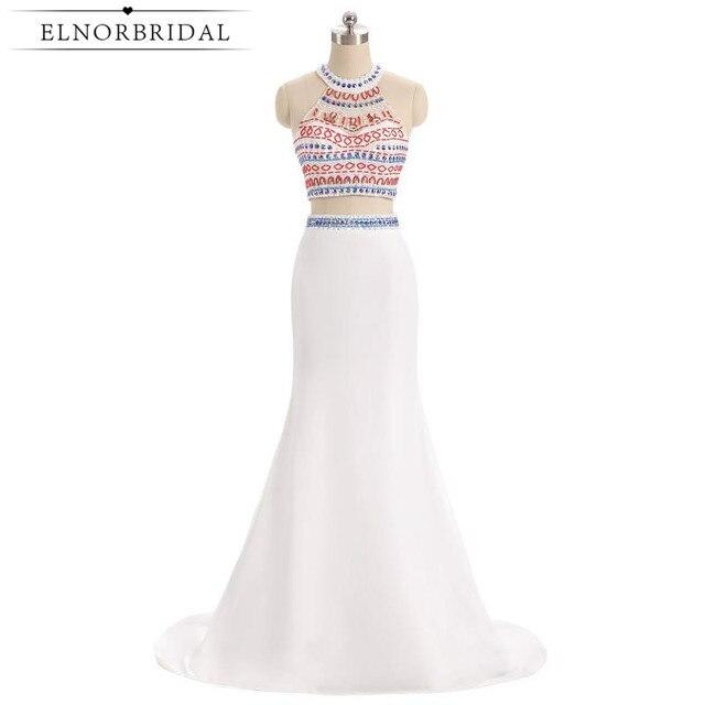 Blanco De dos piezas vestidos sirena 2019 cordón largo importado vestido De  fiesta vestido De velada c77b19f5d60d