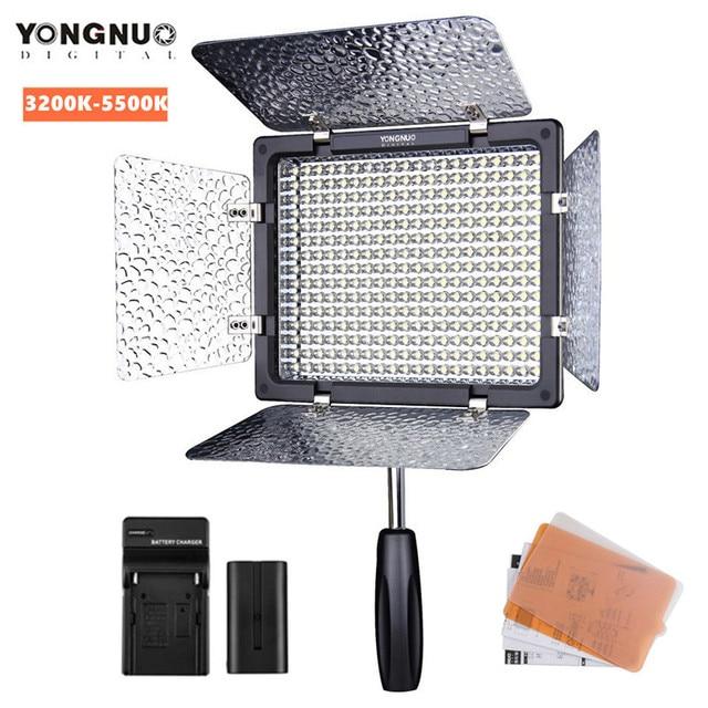 Yongnuo YN300III YN300 III LED Photography Light 3200k - 5500k Smart Remote + F500 Battery + Charger for Digital SLR Camera