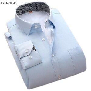 Filengudd, nuevo invierno, ropa importada de China, marca barata, camisetas térmicas de negocios de manga larga para hombres, camisas de sarga cálidas de alta calidad
