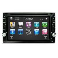 2 DIN For Universal Radio DVD Player GPS Navigation Touch Screen With Bluetooth Steering Wheel Control