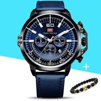 Голубой лед Мужские часы модные спортивные кварц-часы из нержавеющей стали сетка бренда Для мужчин Часы Многофункциональный наручные часы-...