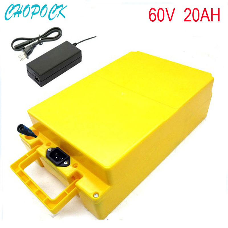 60v 20ah electric bike battery pack 60V 2000w ebike lithium battery for solar system/e bike with Charger and Waterproof case no tax scooter ebike battery 60v 20ah electric bike battery diy 60v 2000w lithium ion battery pack with bms 67 2v 2a charger