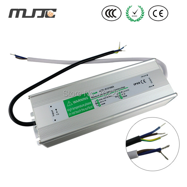цена High Quality 90-277V AC to 12V DC 8.5A 100W Waterproof Electronic LED Driver,LED Power Supply,LED Transformer IP67