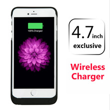 New Stlye Power Case For iPhone 6 6S Wireless Charge Texture Case 5500mAh External Backup Battery Charger Cases Protective Cover