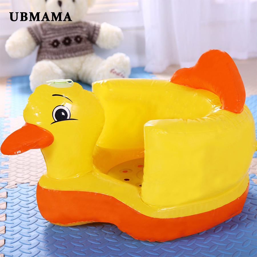 Inflatable Seat Sofa: Baby Chairs Inflatable Duck Sofa With Inflatable Pump