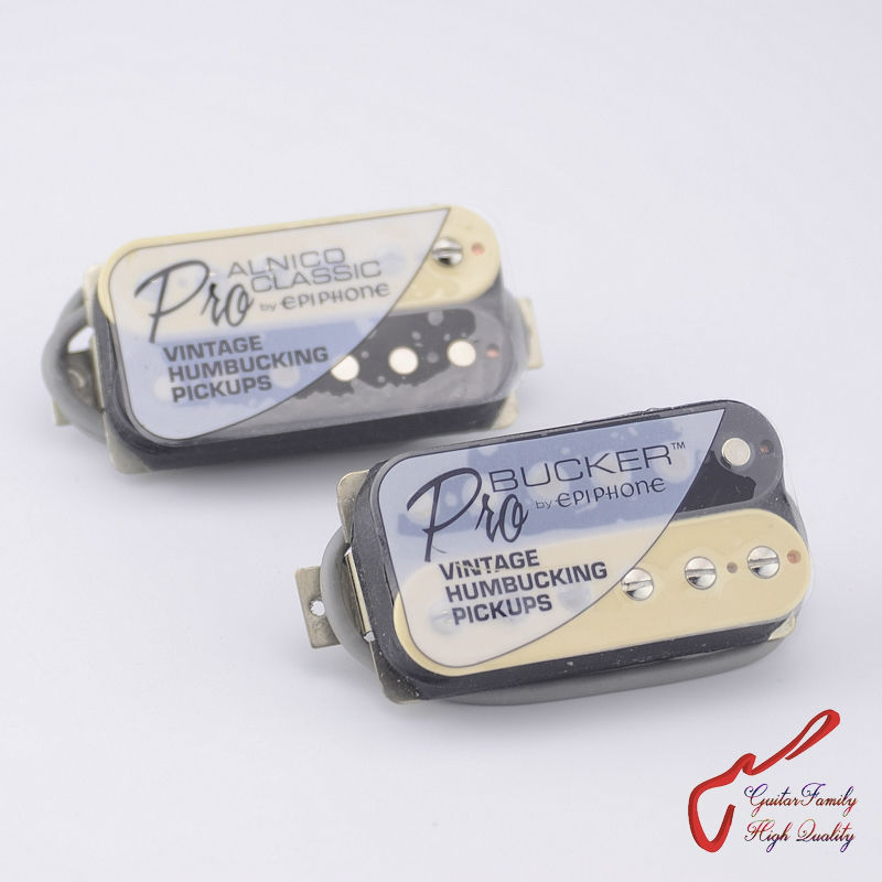купить 1 Set Original Genuine Epi Traditional PRO Electric Guitar Alnico Humbucker Pickup For Epi Guitar Zebra онлайн