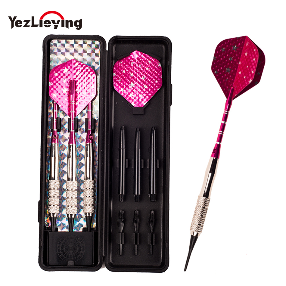 3pcs/Box High Quality Professional 16g Steel, Copper, Aluminum Shaft Soft Tip Dart Toys To Throw On Dart Boards Dongye002