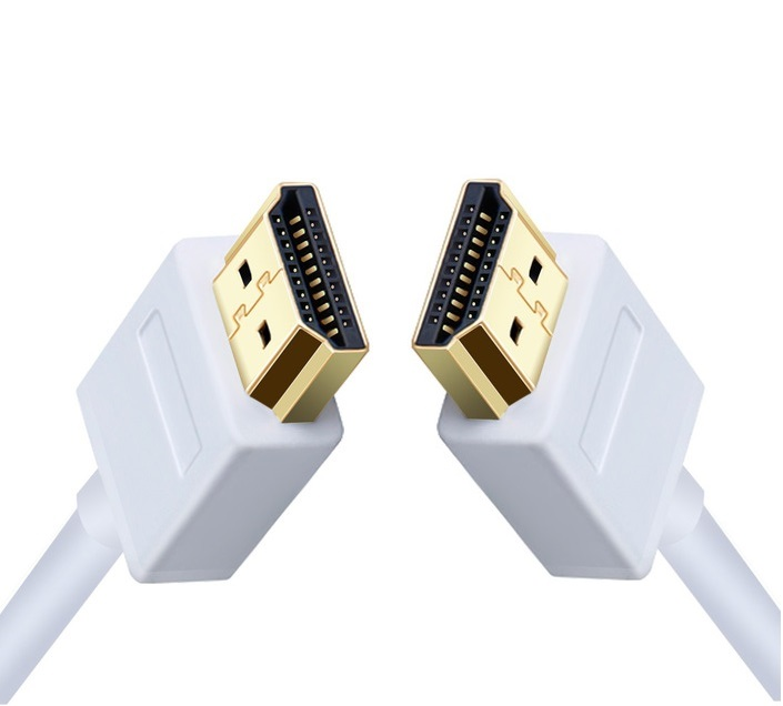 Ultra Slim Profile White HDMI Cable 1m 2m 3m 5m High Speed With Ethernet Supports HDMI Version 1.4, 1.4a, 1.3 Compatible