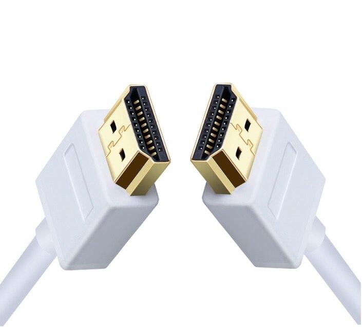 Ультратонкий профильный белый HDMI-кабель 1 м, 2 м, 3 м, 5 м, высокая скорость с поддержкой Ethernet, HDMI версии 1,4, 1,3 а, совместимый