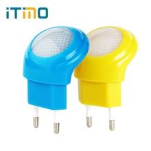 iTimo EU Plug LED Night Light Cute Light Sensor Control Mushroom Night Light Lamp Home Decor for Children Gift Baby Care