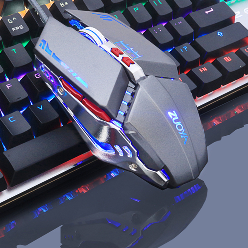 -Black 1000 DPI Optical Sensor, RGB Multi-Color Backlight, 7-Color Breathing Light LAIZI Optical Gaming Mouse